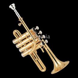 Wholesale Gold Brass Trumpet - Brass instruments JBPT-600 PICCOLO TRUMPET JINBAO