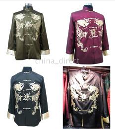 Китайские шелковые куртки Kungfu Rayon, верхняя одежда из шелка Tai Rayon 5 шт. / Лот от Поставщики азиатская девушка воротник