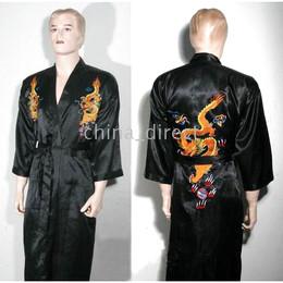 lingerie de nuit pour hommes Promotion pyjama en satin pour hommes Lingerie Robe de nuit Kimono pjs 10pcs / lot new