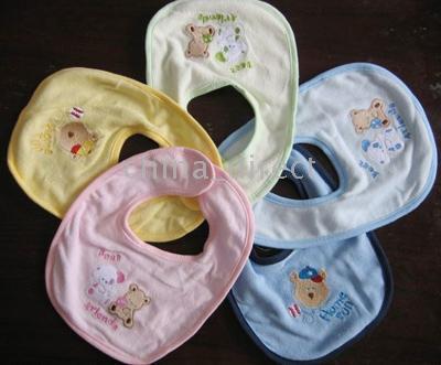 SOFT high quality Embroidery BABY BIB baby bibs Bib 100pcs/lot