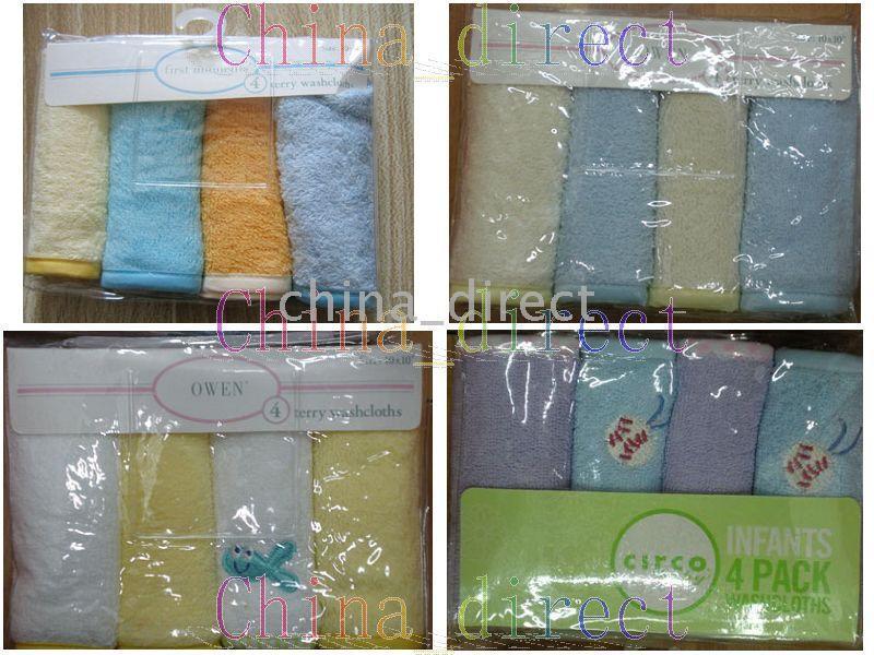 Infant Baby Washcloth Australia - baby wash cloth infant washcloths 4pcs each bag,10bags lot