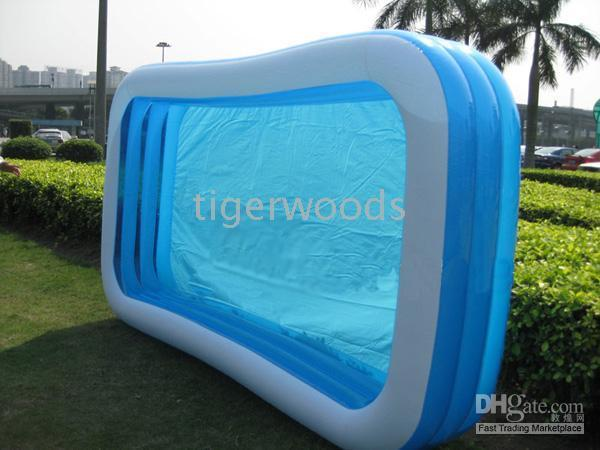 Elegant Best Inflatable Swimming Pool Giant Rectangular Pool Blue For Family Retail  Package Pools Under $1079.4 | Dhgate.Com