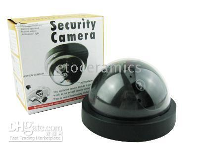 Hot Sell !! FAKE DOME CCTV SECURITY CAMERAS+FLASHING LED LIGHTS 10pcs Lots on Sale