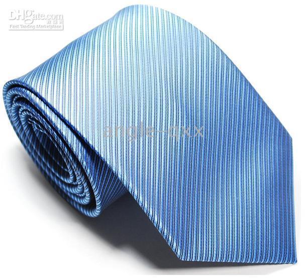 Wholesale Mens Cravat Pink - Mens Ties Necktie tie Neck TIE Stripe factory's tie men's ties sky blue cravat
