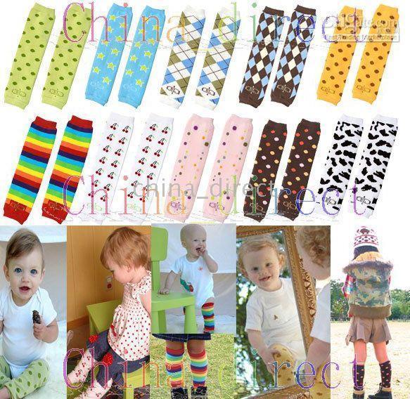 kinderarmwärmer großhandel-Baby Leg Warmers Leggings Hosen Kleinkind Kinder Arm wärmer 120 Paare / Los