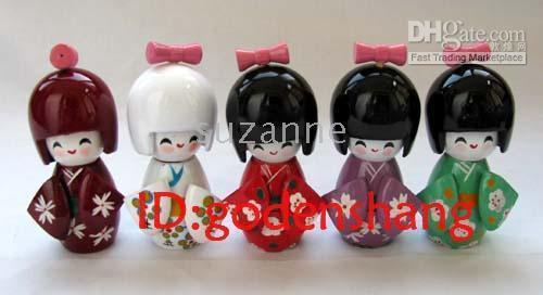 Wholesale Wholesale Japanese Kokeshi Wooden Dolls - Lot 20 Oriental Japanese Kokeshi dolls wooden