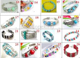 Wholesale Wholesale Fancy Jewellery - 50pc Fancy Jewellery Tibet Silver turquoise bracelet