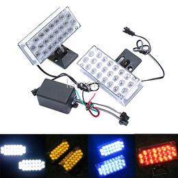 12v levou a luz de traço âmbar Desconto EUA 44 LED piscando piscando luzes estroboscópicas azul DLCL8605
