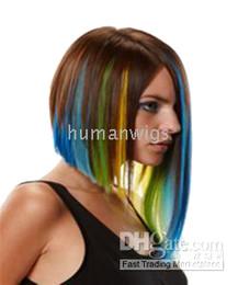 "Wholesale Hair Green Highlight - Green Highlight Single Clip in Hair Extension,HAIR EXTENSIONS, 18"",10pcs lot"
