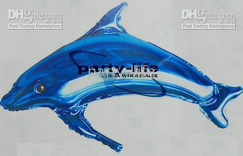 Wholesale 37 quot Blue Dolphin Balloon For wedding Party birthday