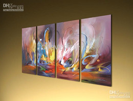 Wholesale Frame Original Oil Painting - *The Longing* ORIGINAL ABSTRACT ART 4 TABLEAU 120X80CM--050725