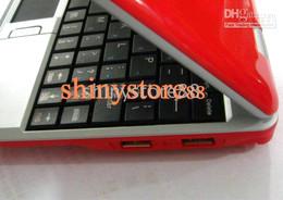 Wholesale Mini Laptop Netbook Windows Ce - 2PC*Wholesale-Red color 7 inch Mini Netbook Laptop Notebook 2GB WIFI windows ce 6.0 Android4.0 Netbook PC