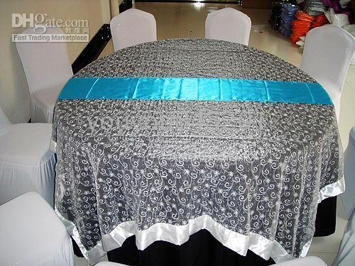 best selling 50PCS A Lot 14''*108'' Turquoise Blue Satin Table Runner For Wedding,Party,Hotel Use 232 Colors For Choice