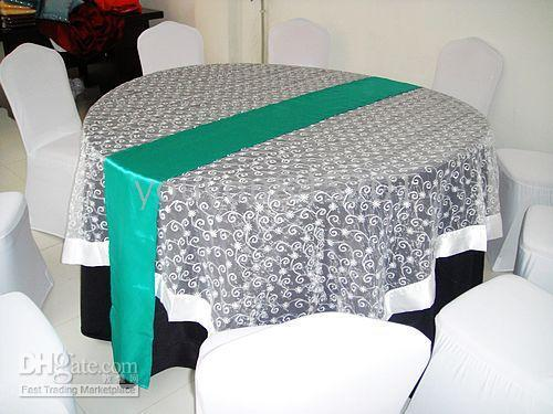 Wholesale Turquoise Satin Runners - 100pcs a lot turquoise green satin table runner with free shipping for wedding use 50pcs a lot