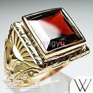 art deco mens garnet ring 14k gold antique fine jewelry. Black Bedroom Furniture Sets. Home Design Ideas
