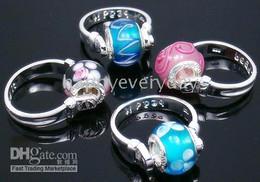Wholesale Biagi Rings - biagi rings 925 silver glass beads 36pcs fit pandora size 7-9 mixed NO4.