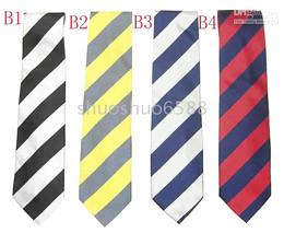 venda quente gravata listrada gravata de seda laços muitos homens gravata gravata laços ordem da mistura de Fornecedores de listras brancas pretas gravata