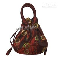 Embroidery Sequin Large Gift Bags with Handles Ladies Coin P...