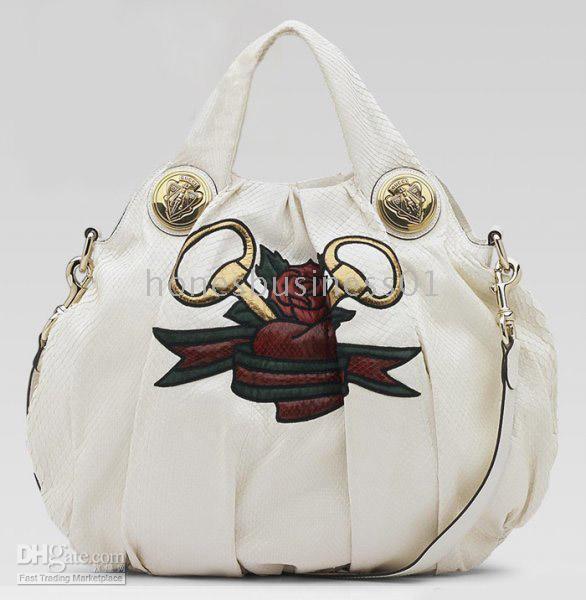 7fb08546bd5 Fashion Gucci Hysteria Large Python Heart Tattoo White Hobo Bag Hobos  Handbag Bags Purse NO.275 Black Handbags Handbags Wholesale From  Honesbusiness01