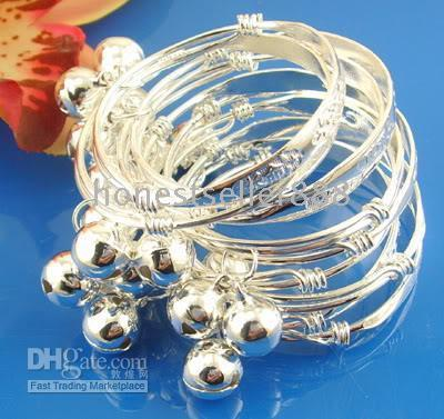 Wholesale Wholesale Indian Bangles Cheap - Wholesale cheap 925 sterling silver 10pc baby bracelet bangle