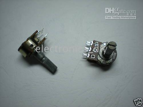 Wholesale 100 per Dual Potentiometer Pots or mm Split Shaft Pin B5K B10K B20K B50K B100K B250K