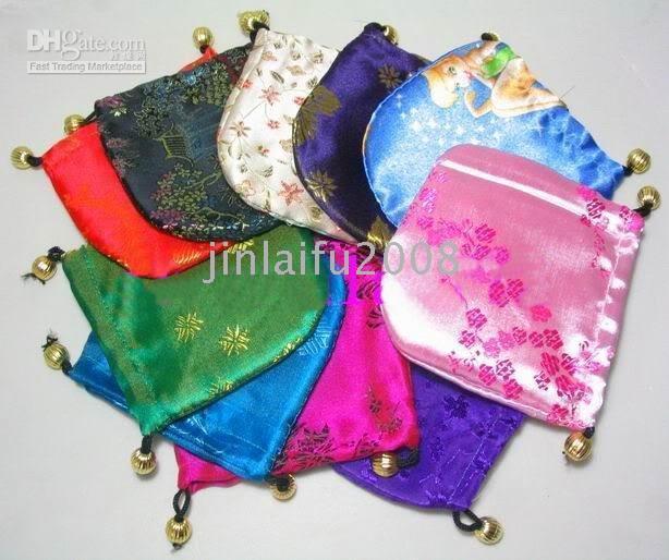 50PCS GORGEOUS CHINESE HANDMADE SILK BAG Wedding & Party Supplies & China Silk Pouches