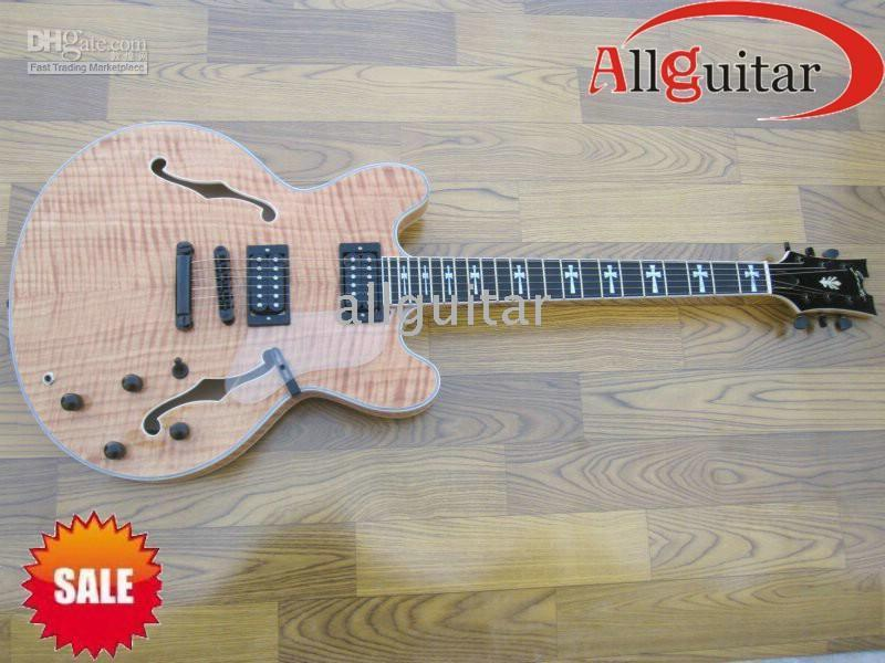 china oem guitar grote semi hollow jazz with double cutaway electric guitar facts about electric. Black Bedroom Furniture Sets. Home Design Ideas