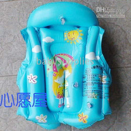 Wholesale Kids Inflatable Life Jacket - Kids Children life jacket inflatable swimming suit swimming ring Bathing suit