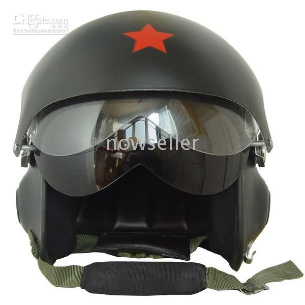 Fighter Pilot Motorcycle Helmet New Chinese Fighter Jet Open