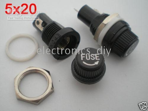 best selling FH043 Fuse Holder 10A 250V for 5x20mm Fuse Bran New 100 Pcs per Lot