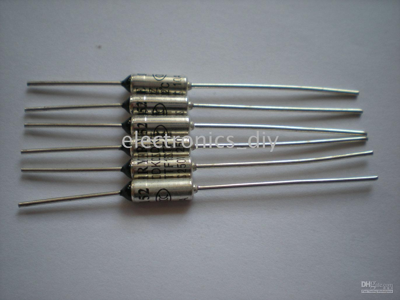 best selling Microtemp Thermal Fuse 152C degree TF Cut-off 10A 250V 200 Pcs per lot