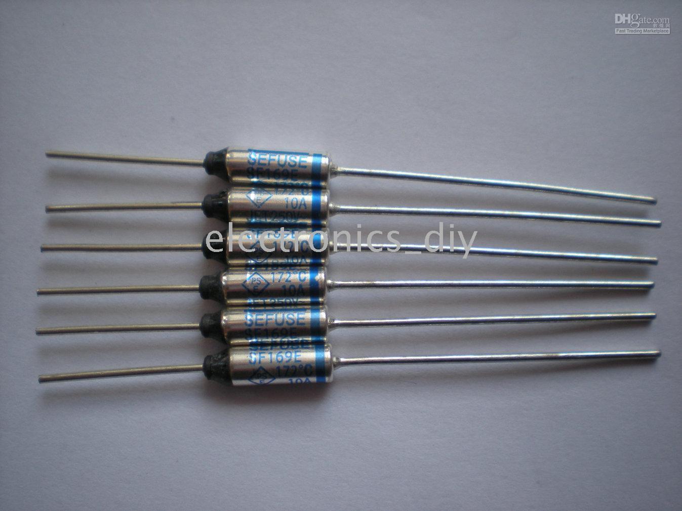 best selling microtemp Thermal Fuse 172C degree TF Cut-off 10A 250V SF169E 200 Pcs per lot