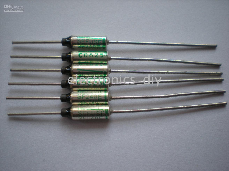 top popular Microtemp Thermal Fuse 240C degree TF Cut-off 10A 250V SF240E 200 Pcs per lot 2021