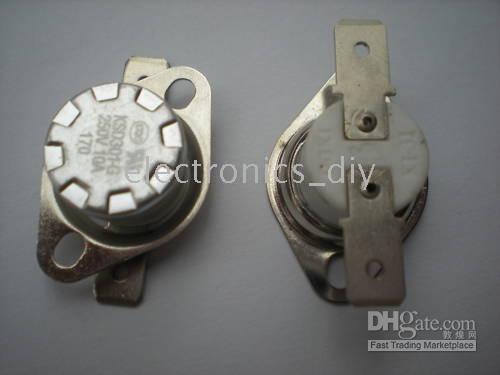 Pc Thermostat Australia - Temperature Switch Thermostat 170C degree N.C. KSD301 5 pcs per lot