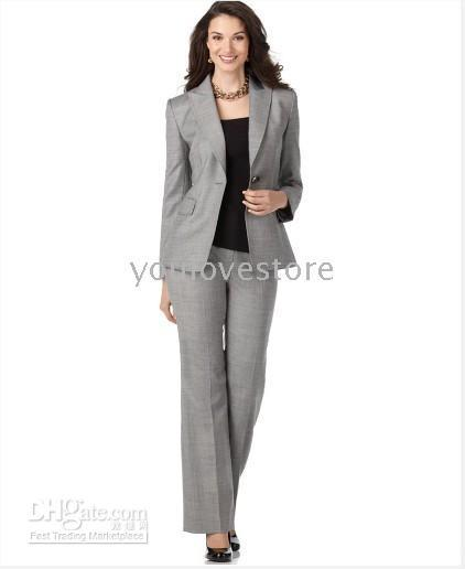 2017 Women Business Suit, Light Grey Women Suits, Women's Suits ...