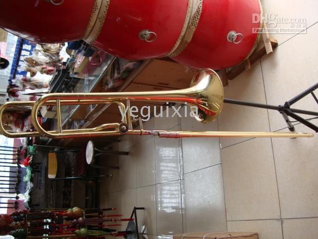 Wholesale gold trombone resale online - Quality new Gold Bass Trombone F Bb tone Berkeley Fang JBSL