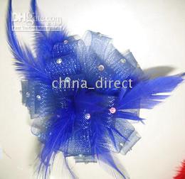 Broche de flores de cabelo on-line-Feather clipe FASCINATOR FLOR PIN BROOCH Penas grampo de cabelo 30 pçs / lote lindo