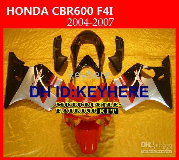$enCountryForm.capitalKeyWord Australia - Body parts fairing kit for Honda CBRF4I CBR F4i 2004-2007 04-05 06 07 RED+Black Fairings,motocycle bodywork +windscreen