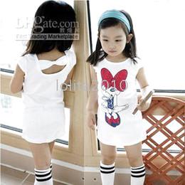 Wholesale Long Sleeved Vest Baby - Clearance !!!!kids dress baby Girls' T-shirts dresses,Long style short sleeve Miqimini T shirt ,girls dress skirt vest harness dress