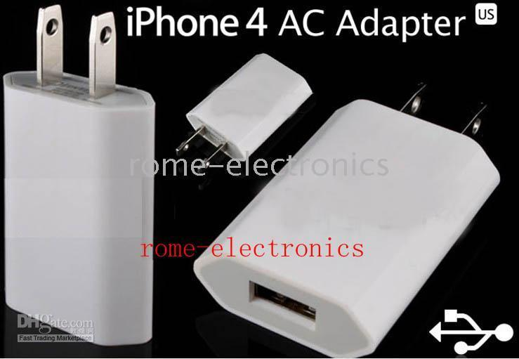 500Pcs/Lot USB Wall Home Travel Charger US/EU Plus AC Adapter For iPhone6 6S