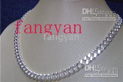 925 8mm halskette großhandel-10 Stück 925 Silber Herren Halskette 8mm 22inch. A405