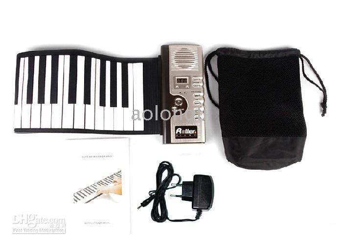 best selling 5pcs-Piano 61 Key Roll Up Synthesizer Piano Roll Up Synthesizer Piano with Responsive Keys