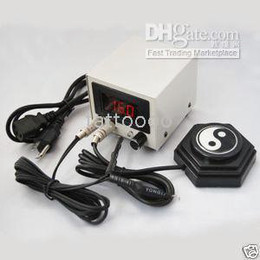 Wholesale Tattoo Professional System - Tattoo Supply Professional Power Supply Clip Cords Foot Pedals System 110 120V free shipping P021+WE001+WY001