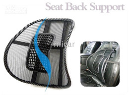 Wholesale Pvc Cool Seat - New Hot COOL car massage lumbar mat, lumbar cushion, cool massage pad 2pcs lot seat back support