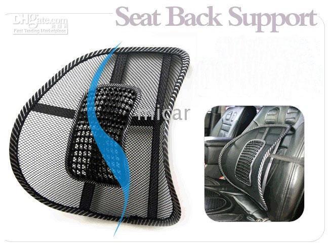Wholesale Lumbar Support Pad Cushion - New Hot COOL car massage lumbar mat, lumbar cushion, cool massage pad 2pcs lot seat back support