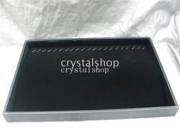Wholesale Wholesale Wooden Bracelet Display - Wholesale Black Velvet Necklace Bracelet Jewelry Display Organizer Holder Case Box Rack Tray Stand