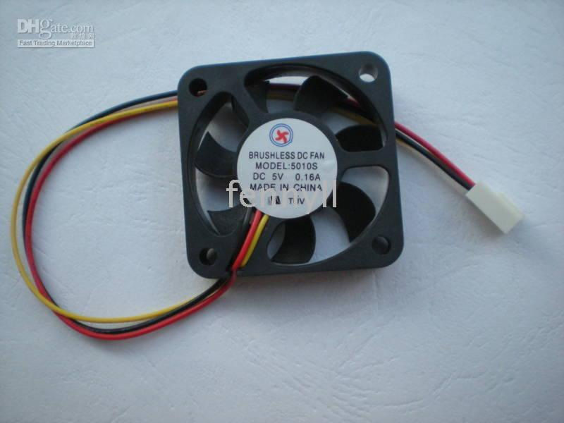 Wholesale Brushless DC Cooling Fan Blade V x50x10mm wire per