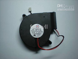 Wholesale Dc Brushless Fan Blower 12v - Brushless DC Cooling Blower Fan 7525 12V 75x25mm Black 0.10-0.2A 1 pcs per lot