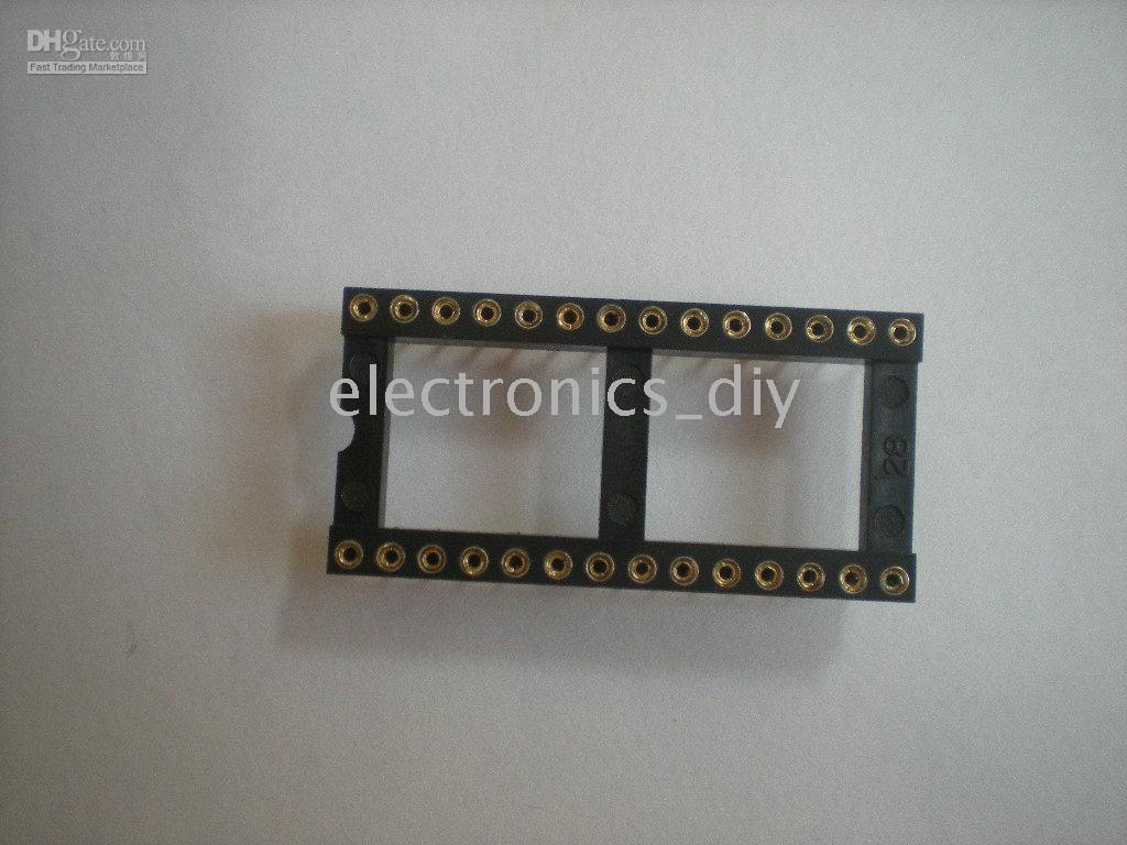 Standard IC Socket Adapter 28 PIN Round DIP High Quality 119 pcs per lot