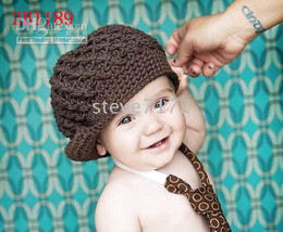 Wholesale Embroidered Headbands - baby hats Cap knitting kid hat beanies flower boy's hat girl headband clip embroider Hat dicer CL732